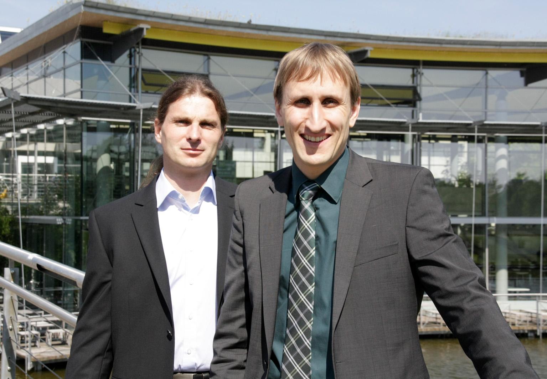 Prof. Dr. Michael Sterner und Thomas Raith